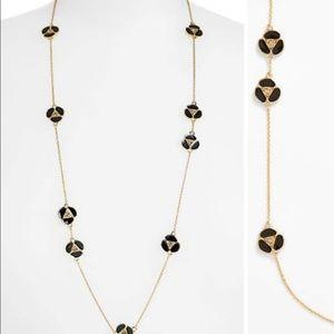 Kate Spade Disco Pansy Black Gold Necklace